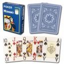 Modiano 4 rohy 100% plastové pokerové karty - Modré